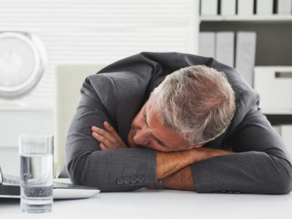 Willen slapen tijdens het werk