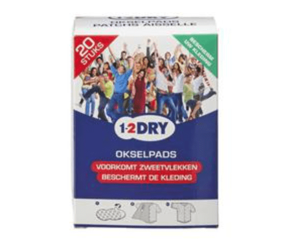 1 2 Dry 1-2 Dry Okselpads Medium Wit 20ST