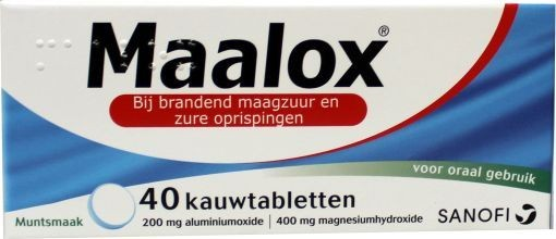 Maalox Kauwtabletten 40tb kopen