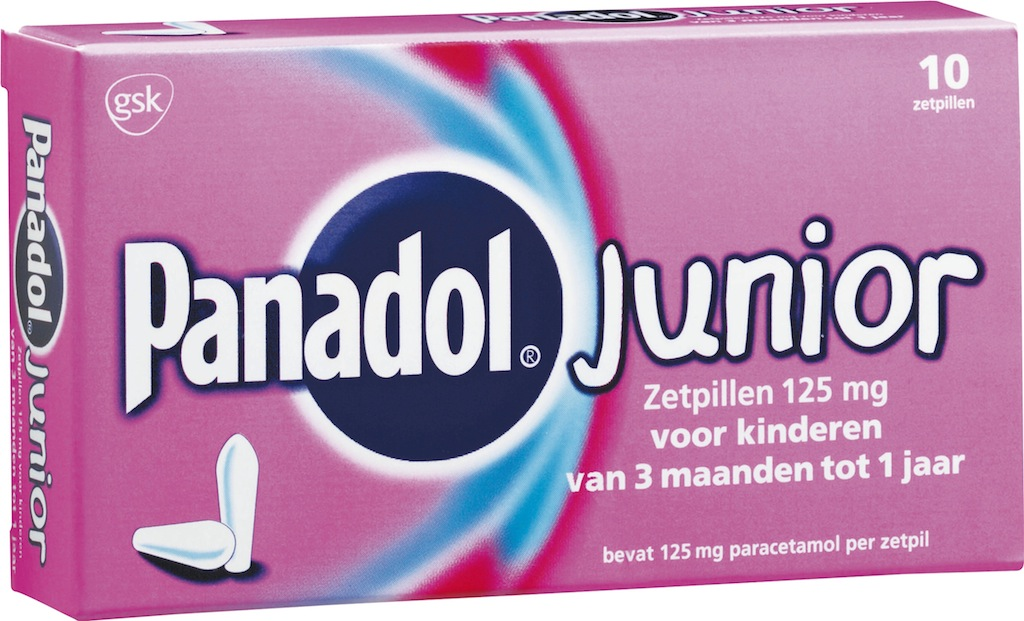 Panadol Junior Zetpillen 125mg 3 Maanden - 1Jaar kopen