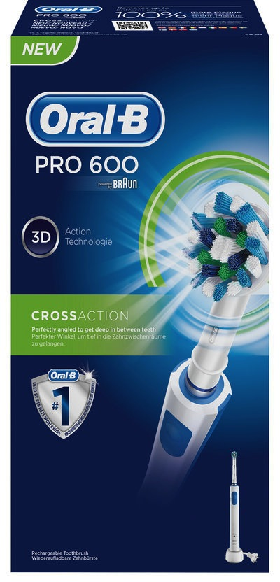 Oral-B Pro 600 Cross Action Elektrische Tandenborstel 1st kopen