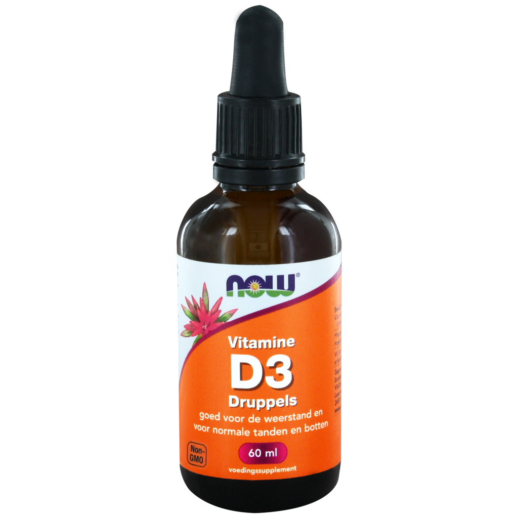 NOW Vitamine D3 Druppels 60ml kopen