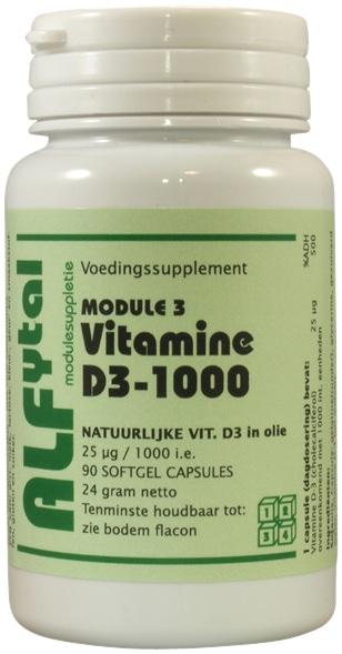 Alfytal Vitamine D3 1000IU Capsules kopen
