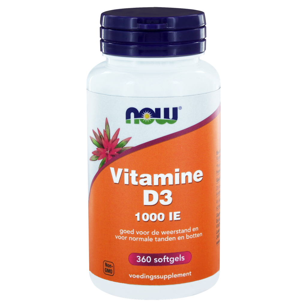 Now Vitamine D3 1000 IE Softgels 360st kopen
