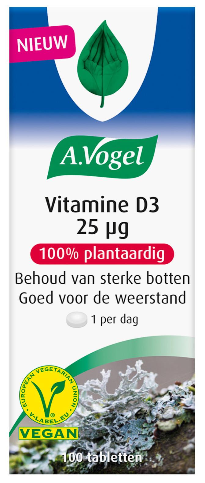 A.Vogel Vitamine D3 25 ?g Tabletten kopen