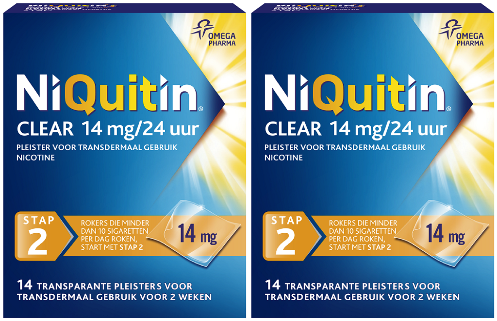 Niquitin Clear Pleisters 14mg Stap 2 Duoverpakking kopen