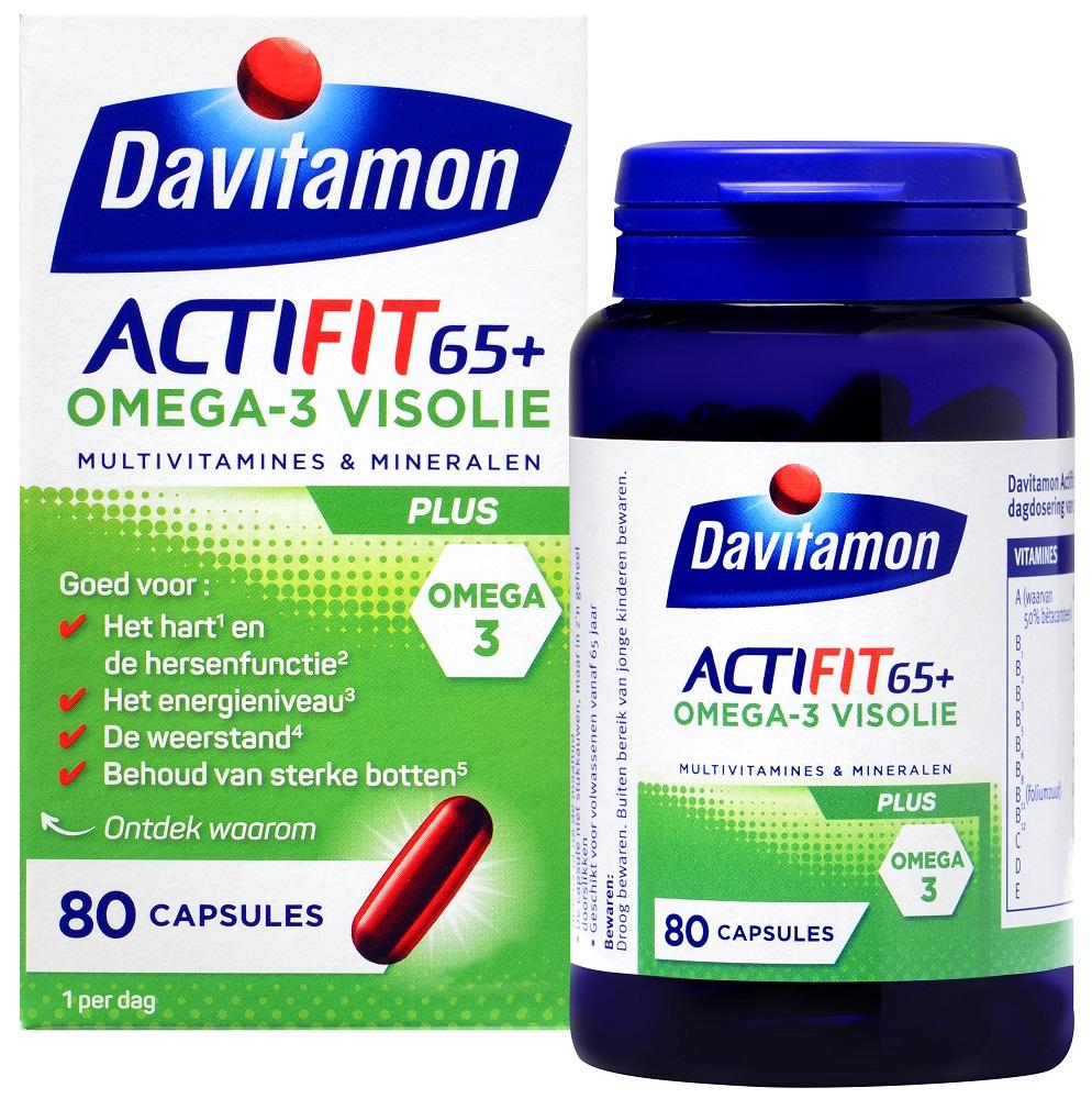 Davitamon Actifit 65 Plus Omega-3 Visolie Capsules kopen
