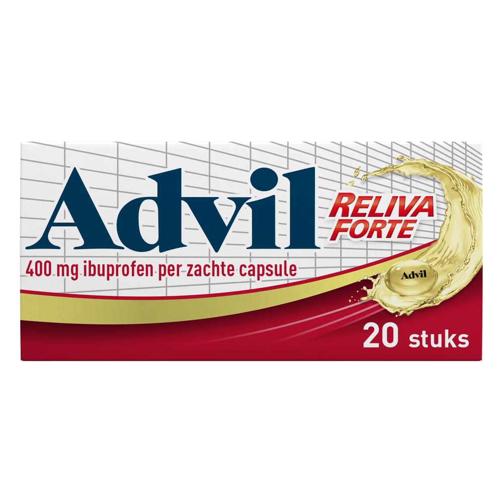 Advil Reliva Forte Liquid-Caps 400 mg voor pijn en koorts kopen
