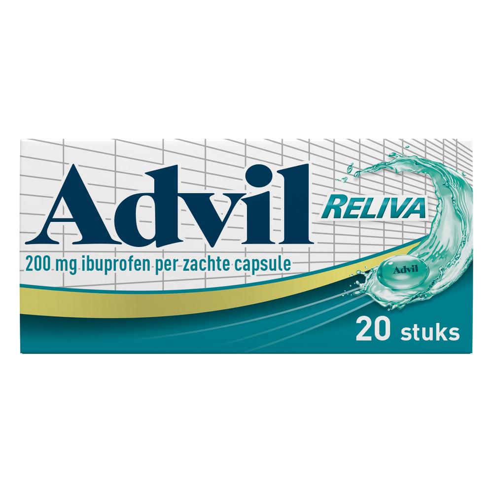 Advil Reliva Liquid-Caps 200 mg voor pijn en koorts kopen