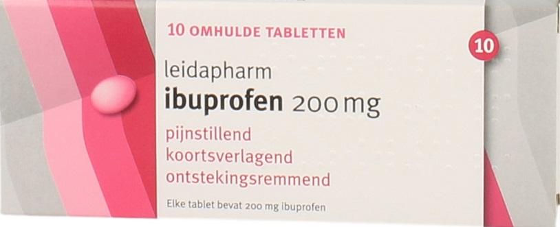 Leidapharm Ibuprofen 200mg Tabletten 10st kopen