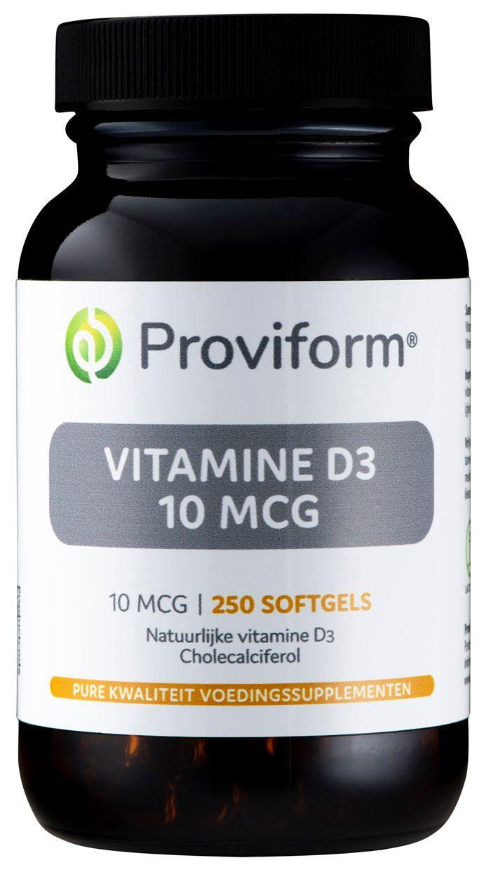 Proviform Vitamine D3 10mcg Softgel Capsules 250st kopen