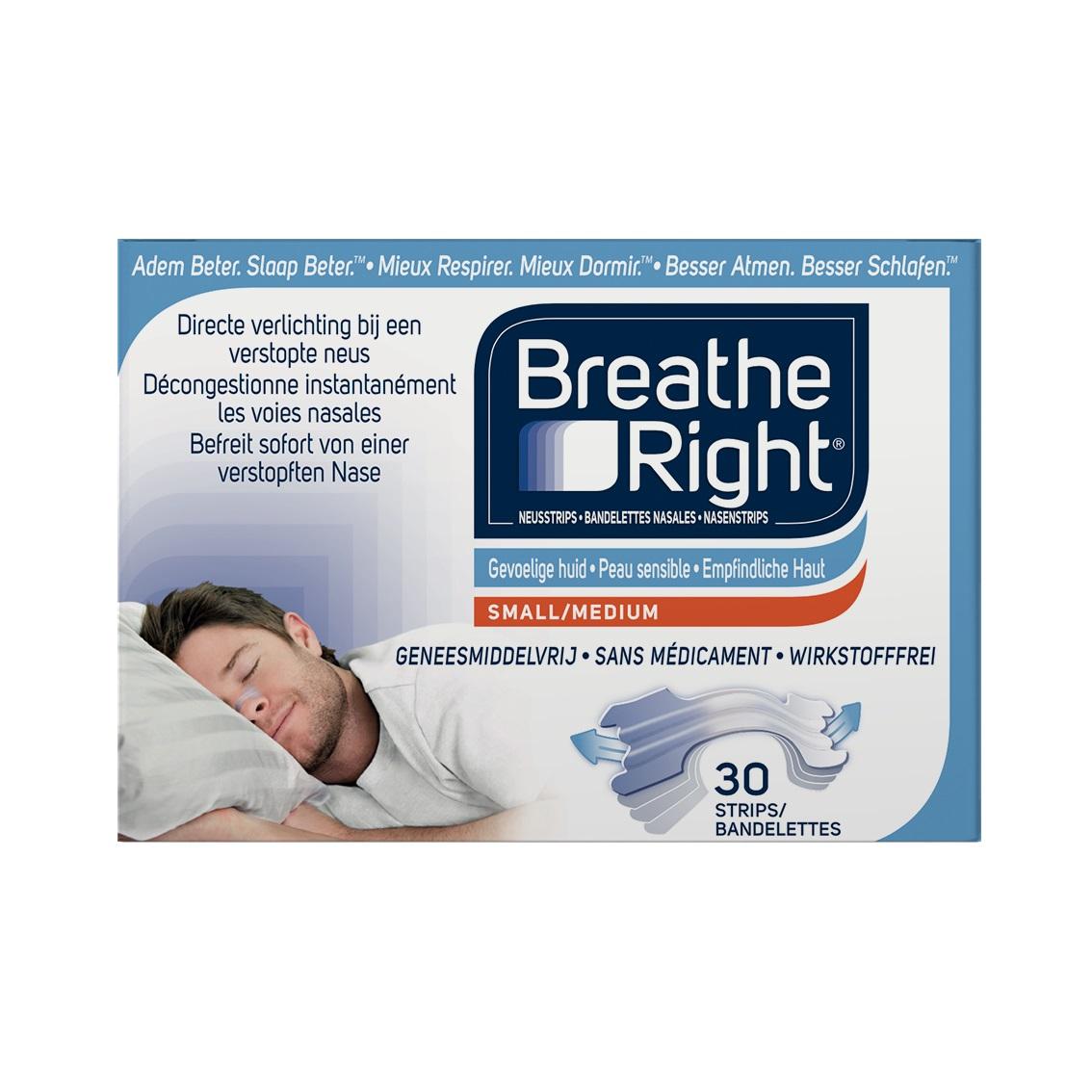 Breathe Right Neusstrips Sensitive - Small/Medium kopen