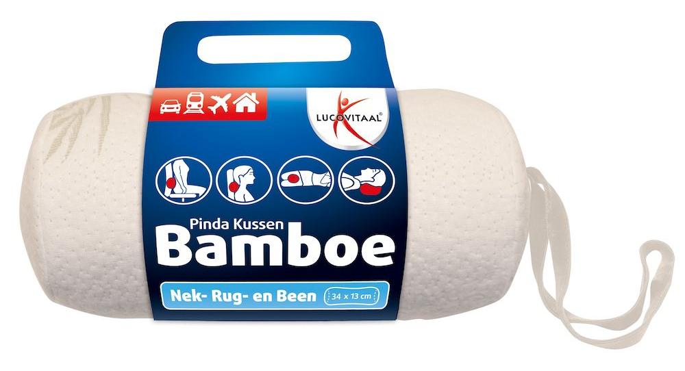 Lucovitaal Bamboe Pinda Kussen Wit kopen